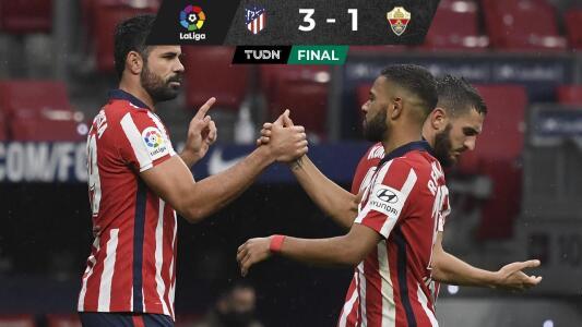 Atlético de Madrid venció al Elche y sigue mandando en La Liga
