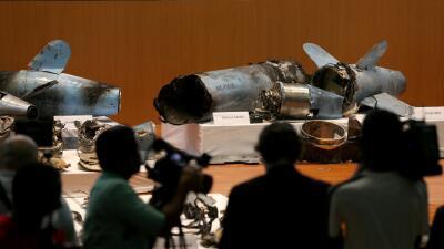 """Restos de """"25 drones y misiles"""": Arabia Saudita muestra las supuestas pruebas de que el ataque a sus refinerías fue lanzado desde Irán (fotos)"""