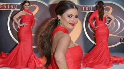 Chiquinquirá Delgado deslumbró en la alfombra magenta de Premio Lo Nuestro 2017
