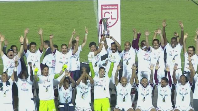 Saprissa levanta el trofeo de campeón de la Concacaf League 2019