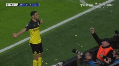 ¡Voltereta en Dortmund! Doblete de Achraf Hakimi sobre el Inter