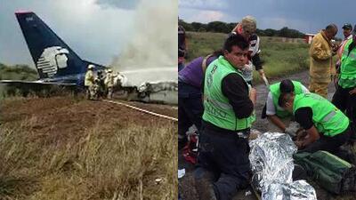 (Video) Pasajero logra grabar el momento cuando se estrella el avión de Aeroméxico