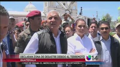 Declaran zona de desastre debido al terremoto en Guatemala