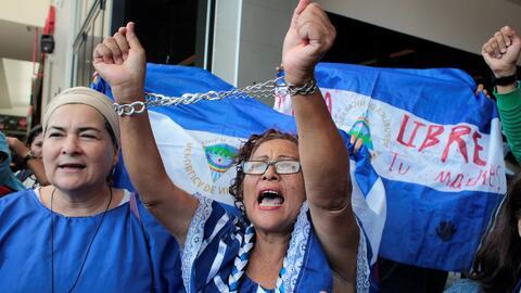 'Sentada Nacional' en Nicaragua termina con tres manifestantes heridos presuntamente por militante sandinista