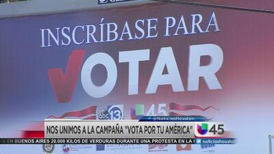 "Univision 45 se une a la campaña ""Vota por tu América"""
