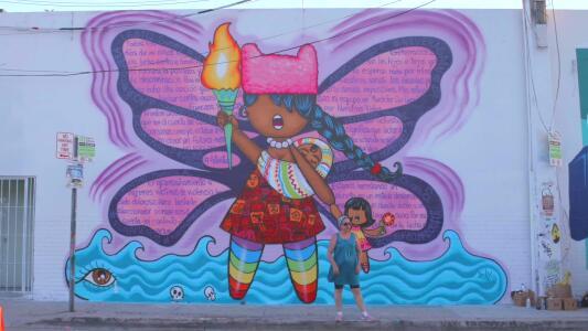 El graffiti de ActivistaZ, por Lady Pink