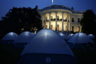 Campamento de Girls Scouts en la Casa Blanca