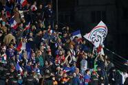 Soccer Football - Euro 2020 Qualifier - Group H - Moldova v France - Zimbru Stadium, Chisinau, Moldova - March 22, 2019 General view of France fans before the match REUTERS/Valentyn Ogirenko