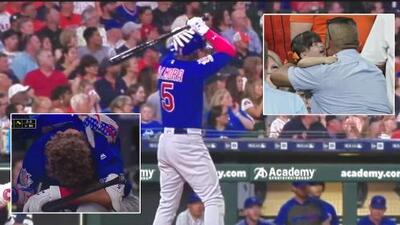 Beisbolista rompe en llanto al golpear accidentalmente con la bola una niña en un lanzamiento tras un batazo