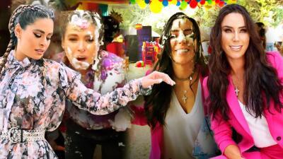 Galilea Montijo se enfrenta a Inés Gomez Mont en una guerra de espuma y este fue el resultado