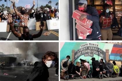Estas primeras protestas agudizaron las pérdidas debido al cierre por la pandemia, terminando con la esperanza de reapertura para muchos comercios.
