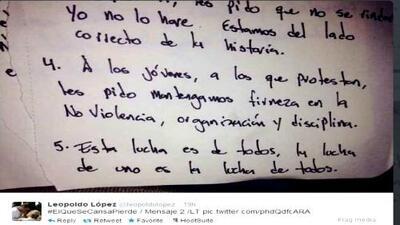 La voz de Leopoldo López está libre en Twitter