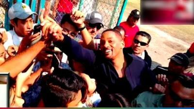 (VIDEO) Will Smith llega a Morelos y sus fans enloquecen