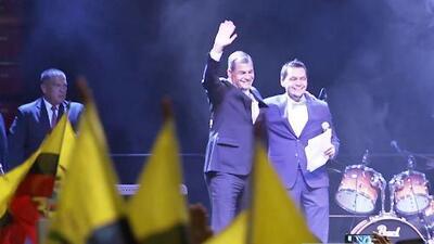 Emigrantes ecuatorianos recibieron a Rafael Correa en su último viaje oficial como presidente