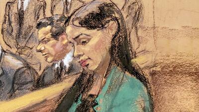 """""""Yo hoy no voy a llorar"""": las imágenes de Emma Coronel el día que 'El Chapo' fue declarado culpable"""