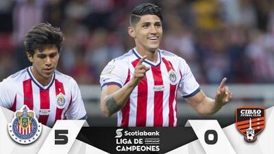 Por fin 'mojó' el Rebaño y Chivas avanzó goleando al Cibao