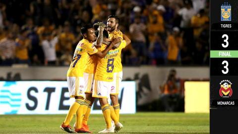Tigres 3-3 Morelia - RESUMEN Y GOLES – Clausura 2019 Liga MX