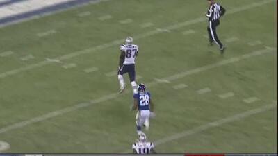 Rob Gronkowski, un gigante entre gigantes se escapó para touchdown