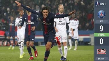 ¡Tripletes de Cavani y Mbappé! El PSG cobra venganza del Guingamp y lo despedaza
