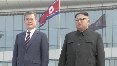 Visita histórica: así recibió el líder norcoreano al presidente de Corea del Sur