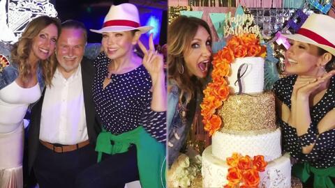 Thalía no podía faltar: así sorprendió a su gran amiga Lili Estefan en su fiesta de cumpleaños