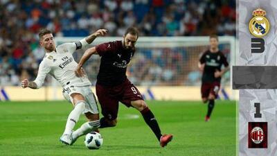 Real Madrid bate al Milan y se queda con el Trofeo Santiago Bernabéu