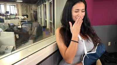 Carla Medrano cuenta la historia de su brazo roto