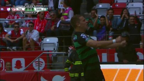 ¡GOOOL! Julio Furch anota para Santos Laguna