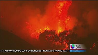 """Incendio """"Old Fire"""" arde en el sur de California"""