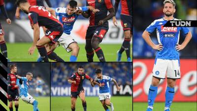Sin goles en el duelo de la Serie A entre Napoli y Genoa
