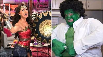 Lili se transformó en 'Mujer Maravilla' y Raúl en 'Hulk': así abrieron el show como todos unos súper héroes