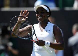 Homenaje de Sloane Stephens en Wimbledon en el Día de la Independencia de Estados Unidos