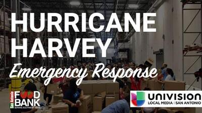 Univision and the SA Food Bank teamed up to help Harvey victims