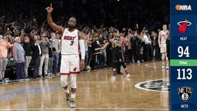 Dwyane Wade se retira de la NBA con un triple-doble