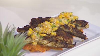 La receta: pescadillas veganas con puré de batatas