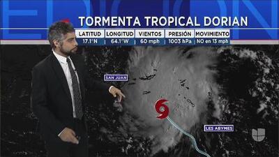 ¿Qué ciudades serían las más afectadas por la tormenta tropical Dorian?