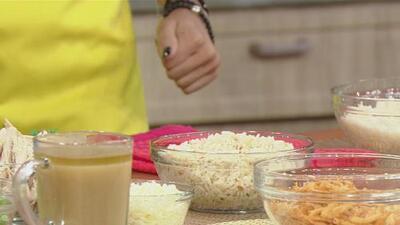 ¿Te sobró comida? Prepara esta receta de arroz con pavo