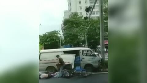 Un vehículo sin frenos mata a cuatro personas en una avenida de China
