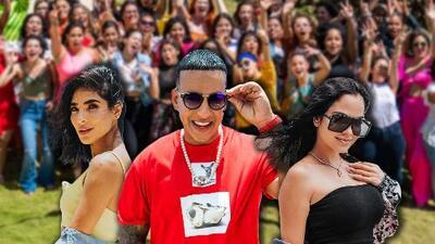 Decenas de puertorriqueñas reciben a Daddy Yankee y Natti Natasha en las audiciones de Reina de la canción