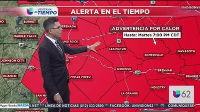Activan advertencia por calor cerca de Austin