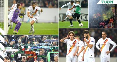 Borussia Mönchengladbach vence a Roma en el último suspiro