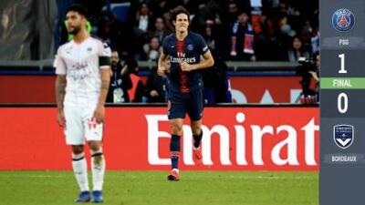 Cavani marca el gol del triunfo para el PSG ante el Burdeos pero sale lesionado