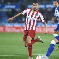 Héctor Herrera es titular en tropiezo del Atlético