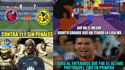 Los memes del último adiós al Veracruz en la Liga MX contra el América