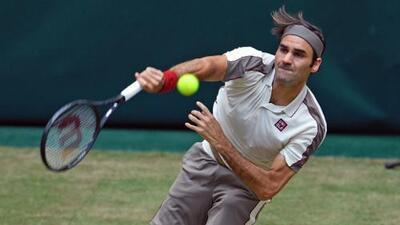Federer buscará su décimo título en Halle en una final ante Goffin