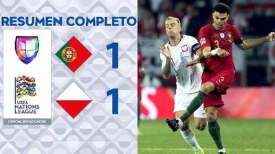 Portugal 1-1 Polonia - GOLES Y RESUMEN - Liga A - Grupo 3 - UEFA Nation League