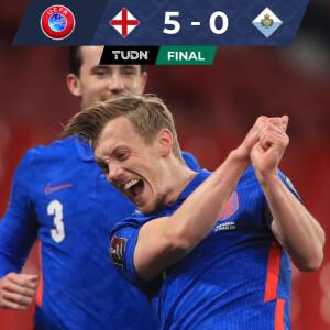 Inglaterra le puso una paliza a San Marino en inicio de Eliminatoria