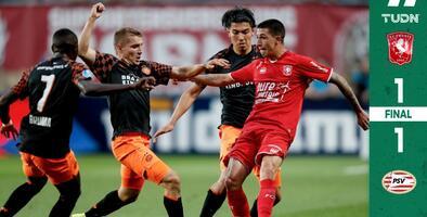 Con Guti de titular y Chucky en la banca, PSV saca el empate ante el Twente