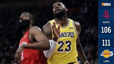 'El Rey' vence a 'La Barba': tremenda remontada de Lakers sobre Rockets