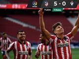 Con asistencia de Héctor Herrera, el Atlético goleó y sigue líder